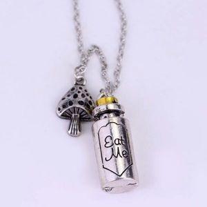 """Wonderland inspired """"Eat me"""" necklace."""